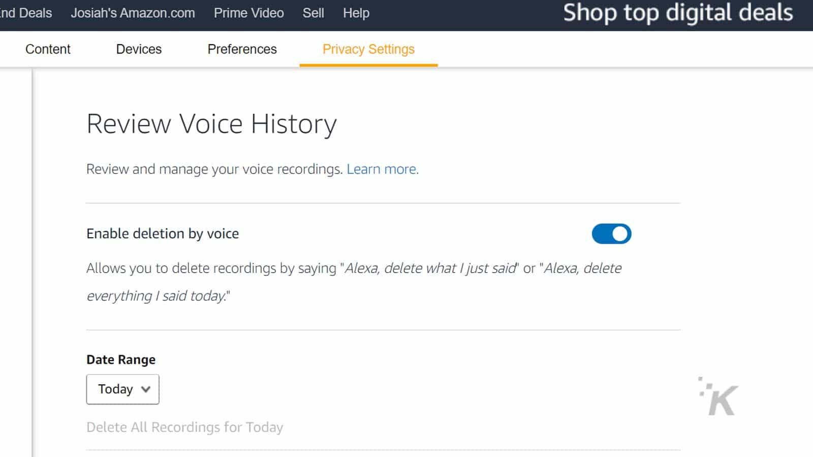 amazon alexa delete commands