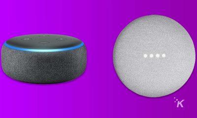 amazon echo and google home mini smart speakers