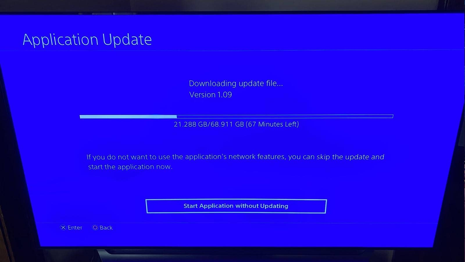 downloading updates on consoles