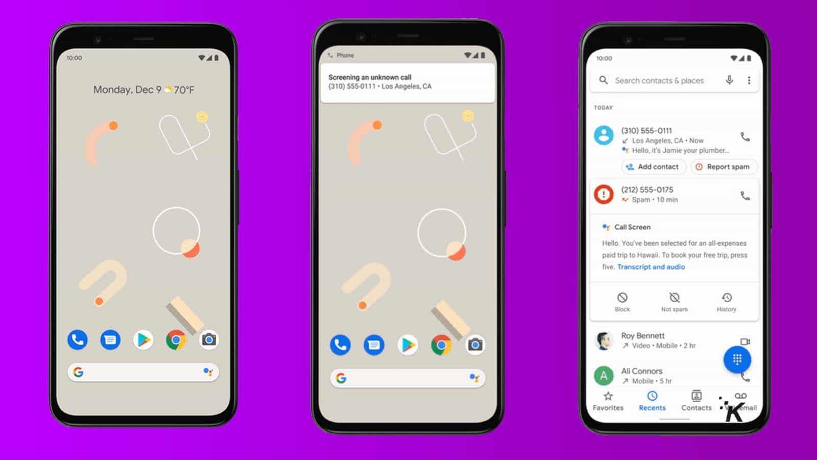 new google pixel 4 call screen feature