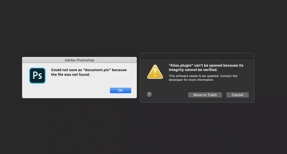 macos breaks adobe products in catalina