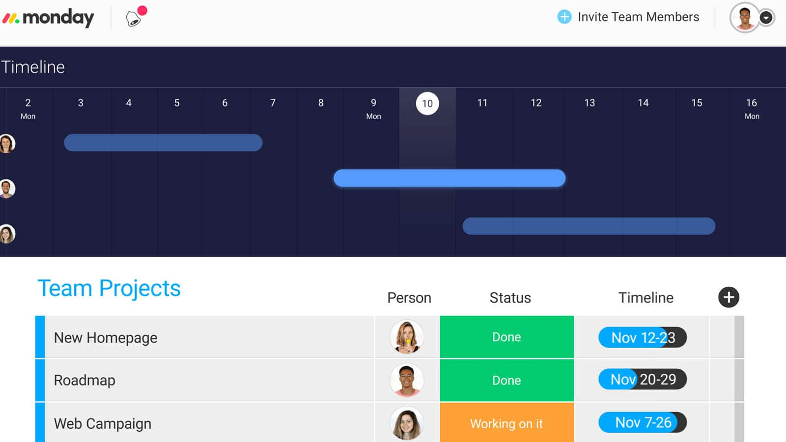 monday scheduling tool