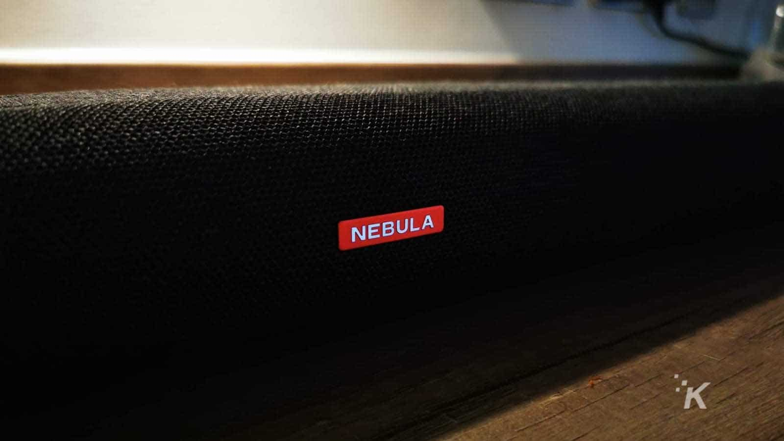nebula soundbar close up