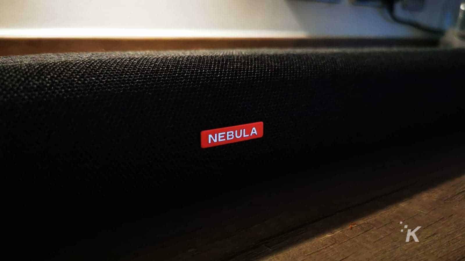 nebula soundbar close up