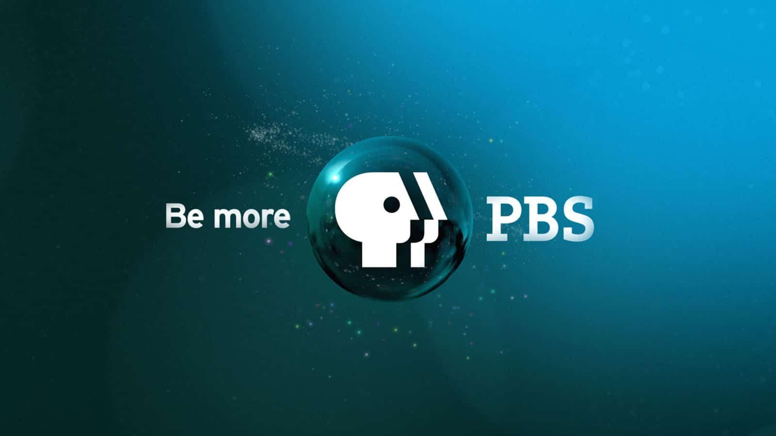 pbs logo on blue background
