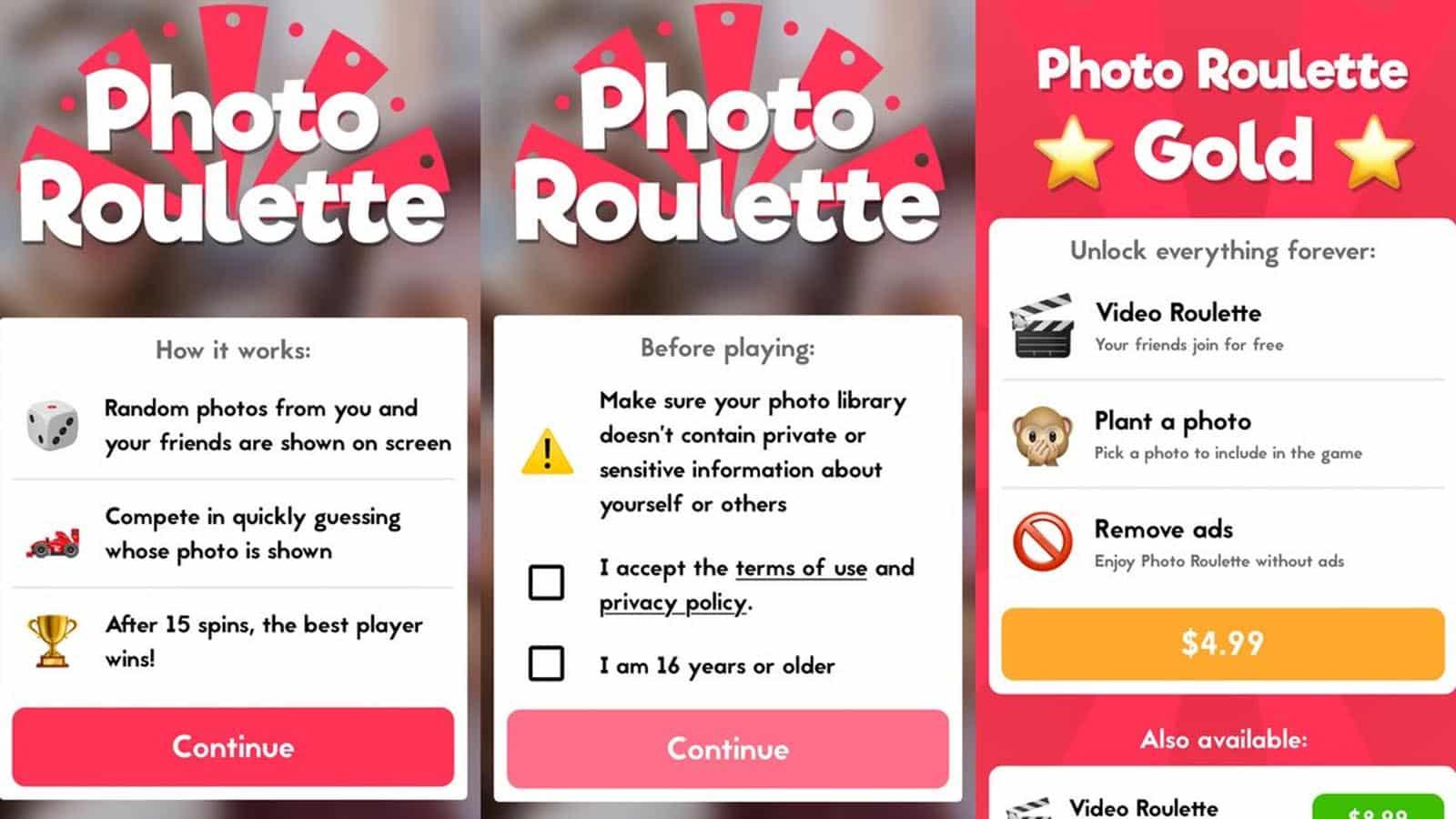 photo roulette app