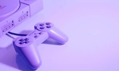 playstation 1 on table