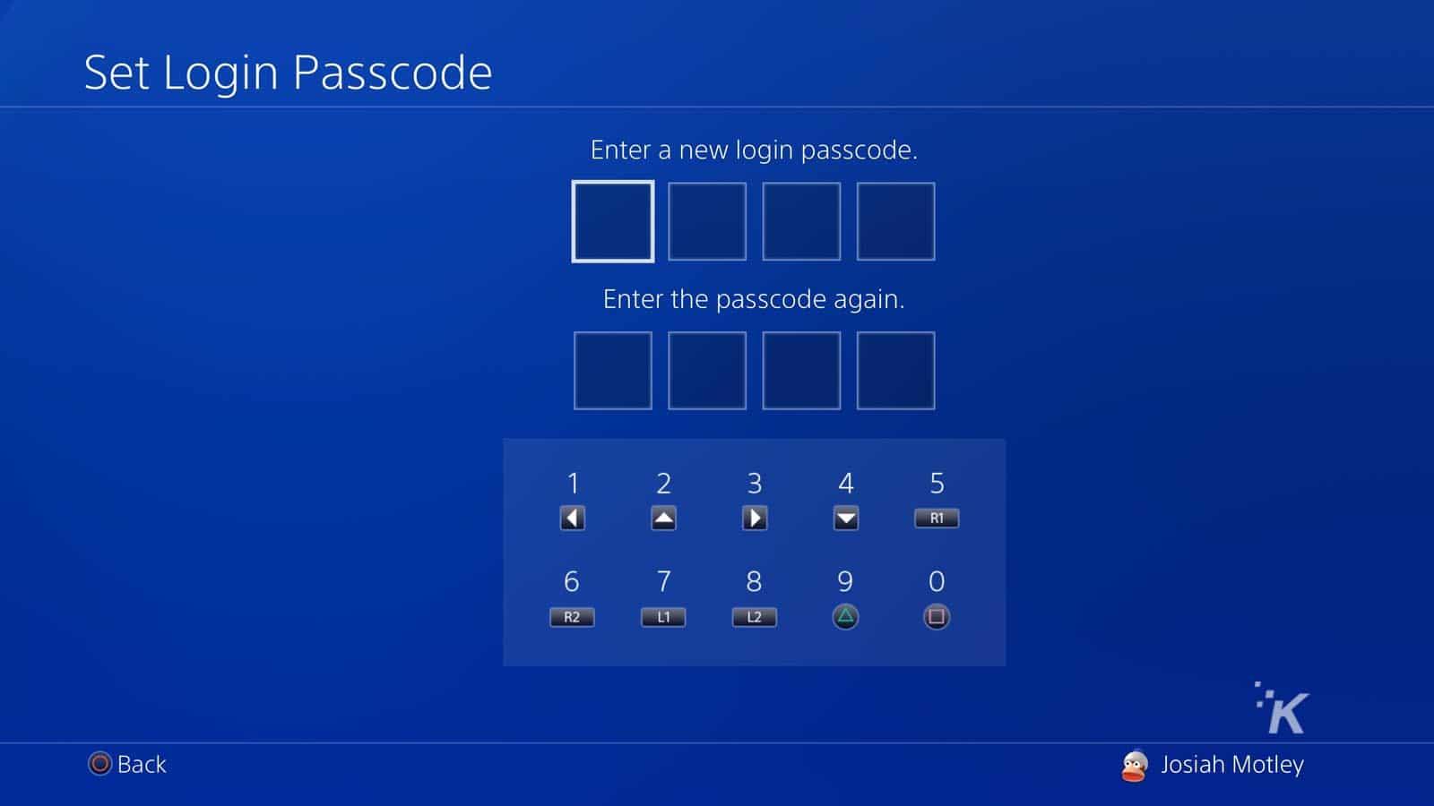 playstation 4 login settings