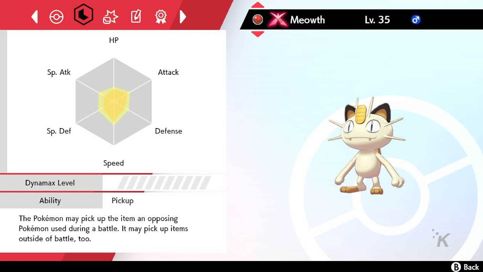 sword and shield meowth