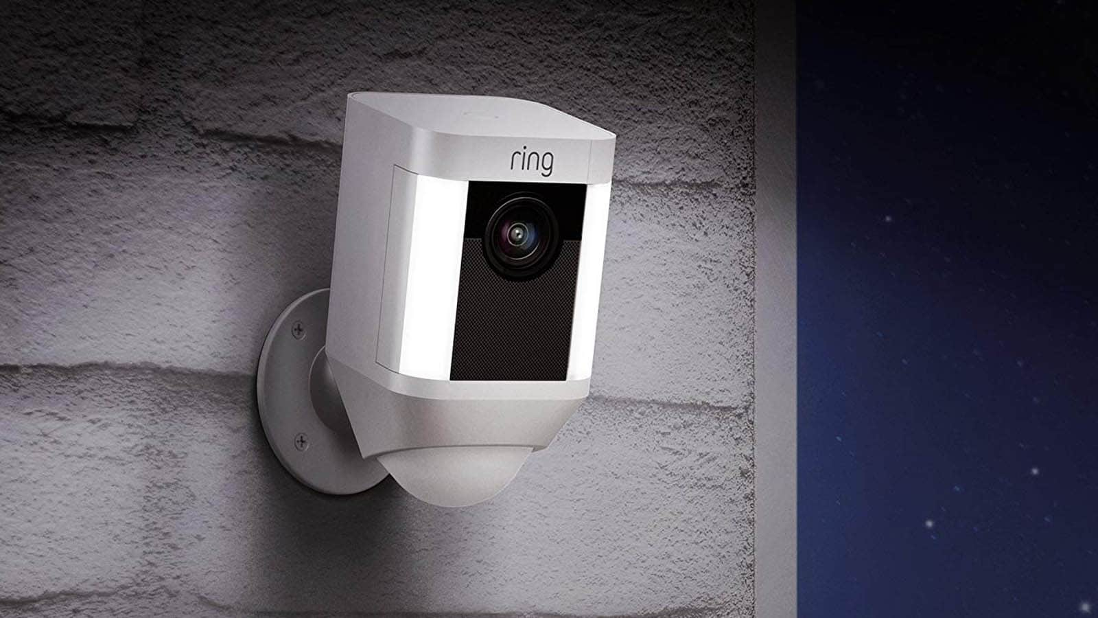 ring camera on wall