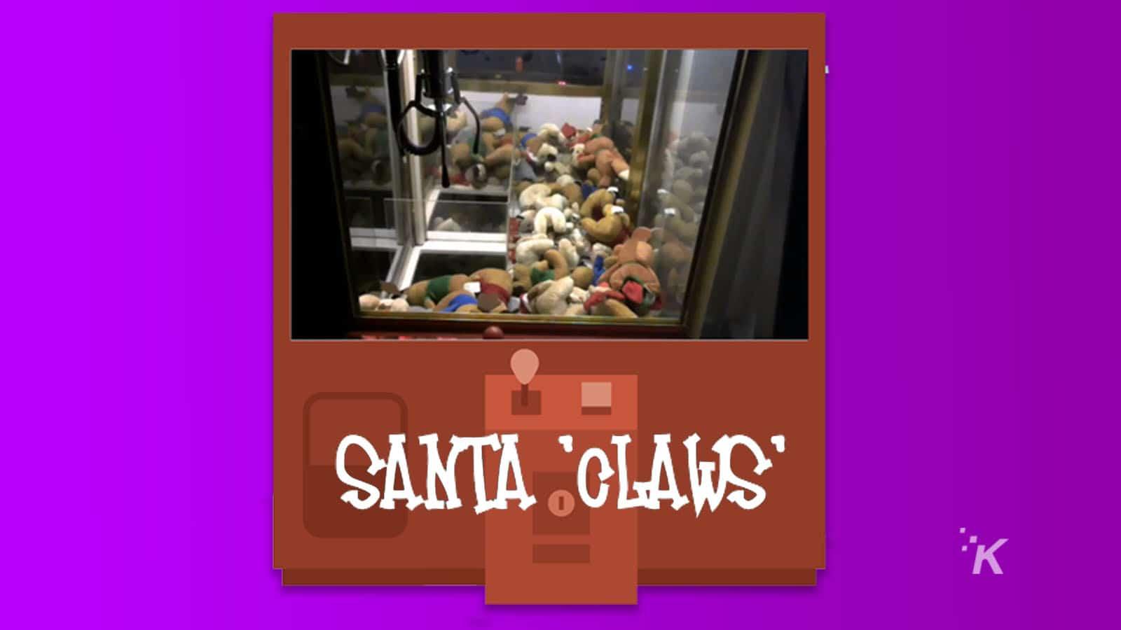 santa claws claw machine for charity