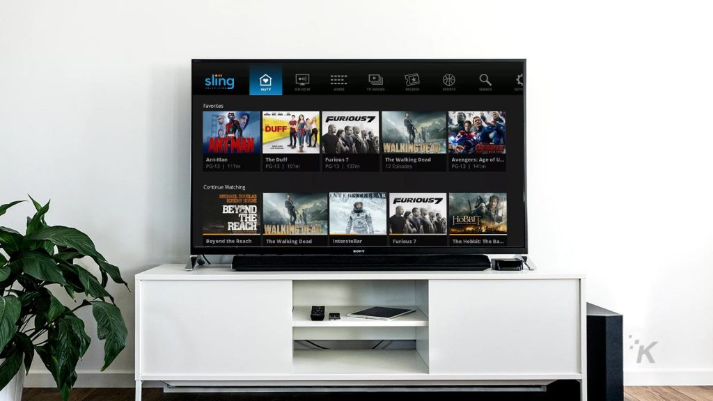 sling tv on television