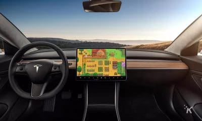 stardew valley playing on tesla screen