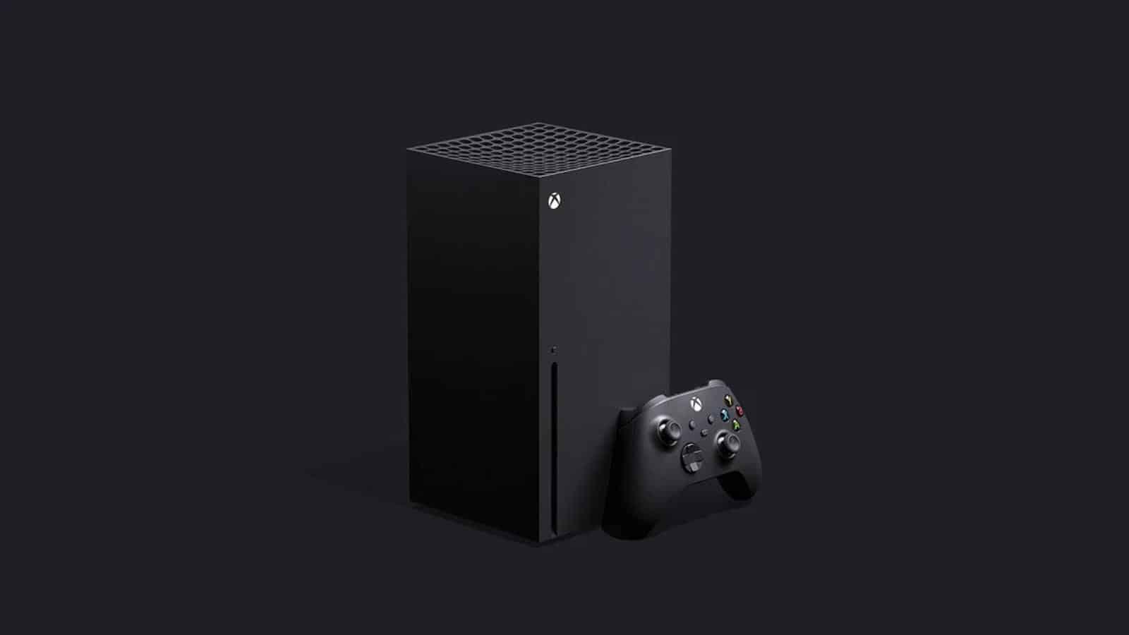 xbox series x on black background