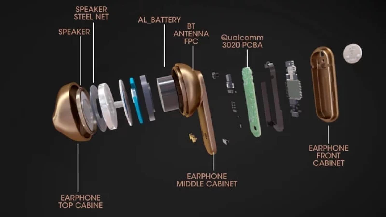 earbuds broken apart