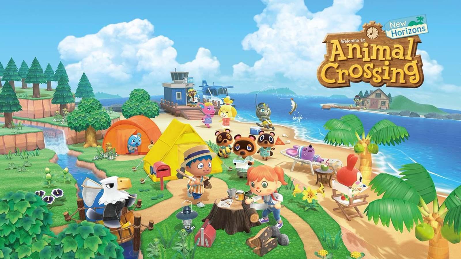 animal crossing new horizons main screen