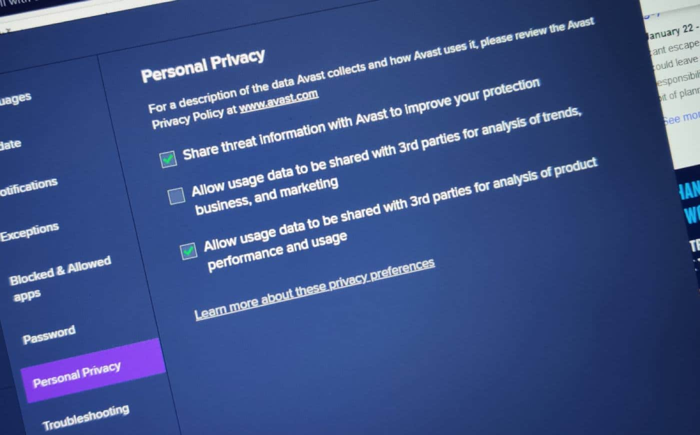 avast is selling your data