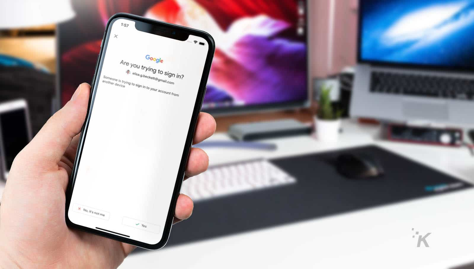 google two factor feature on iphone