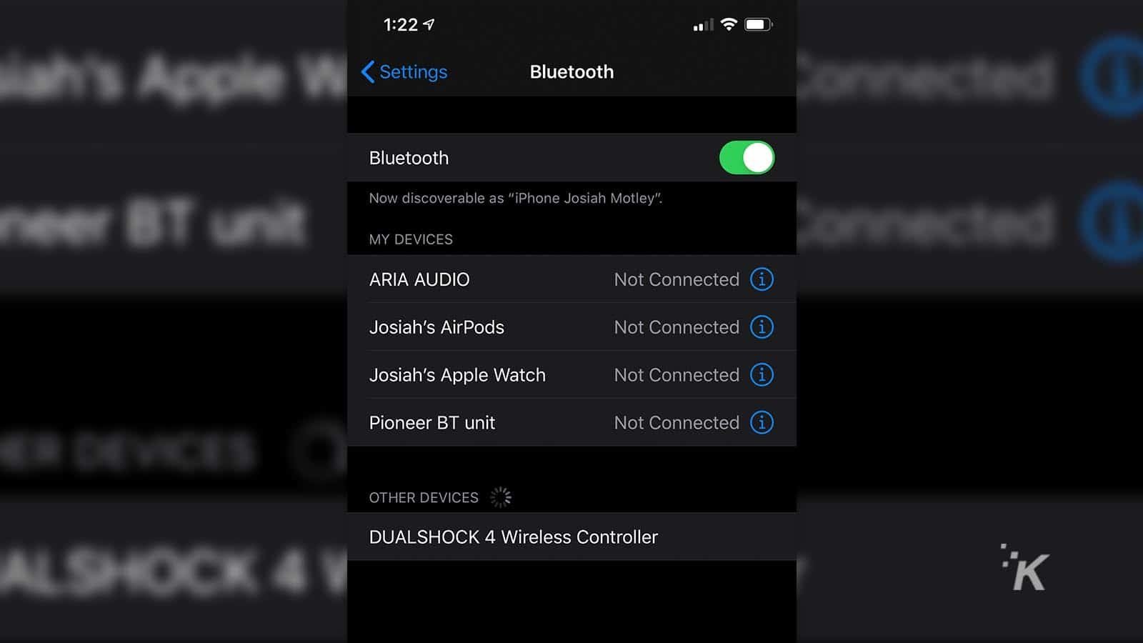 apple iphone connecting to playstation 4 controller