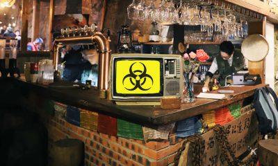 biohazard symbol on tv