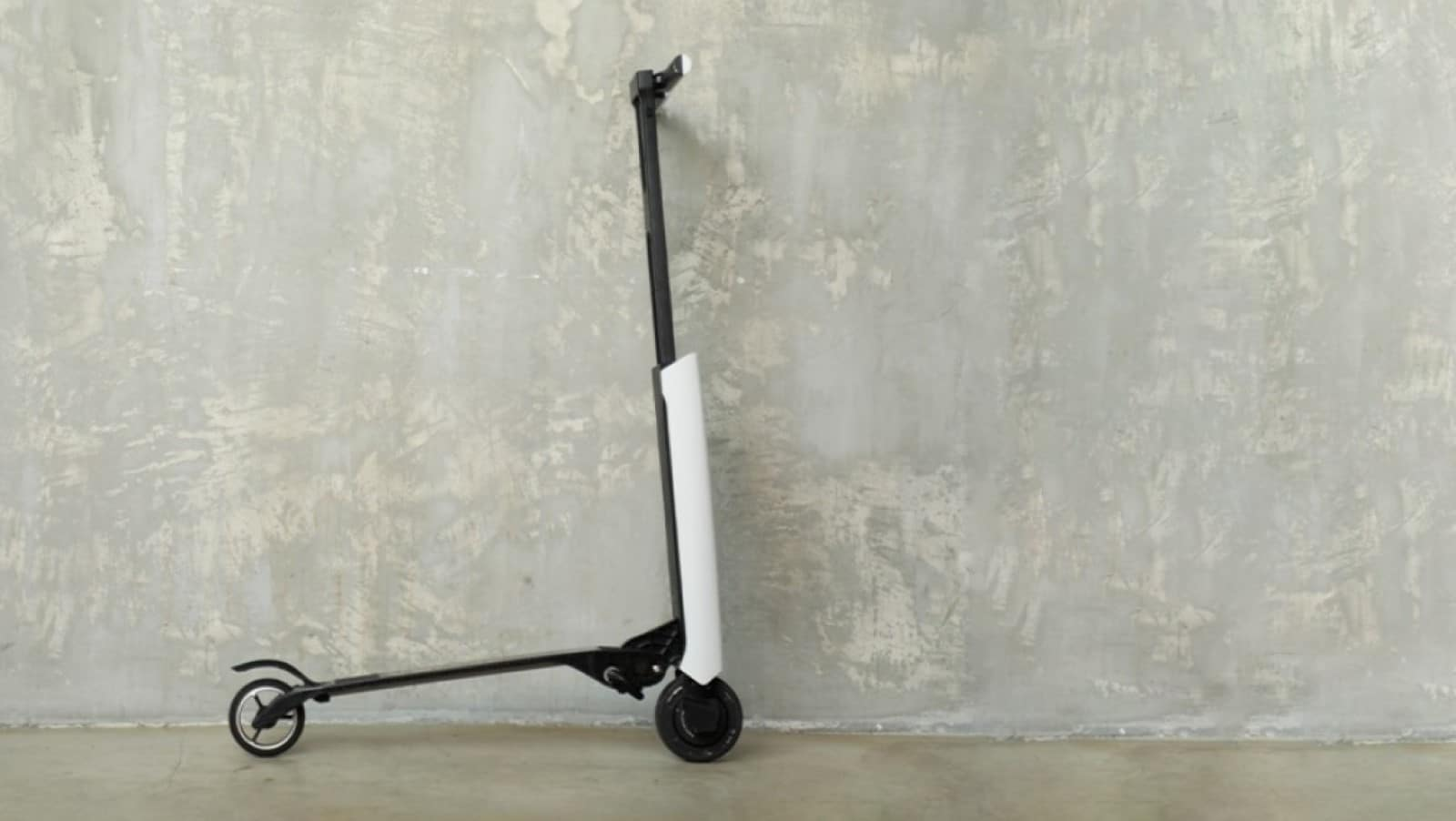 white scooter against wall crowdfunding