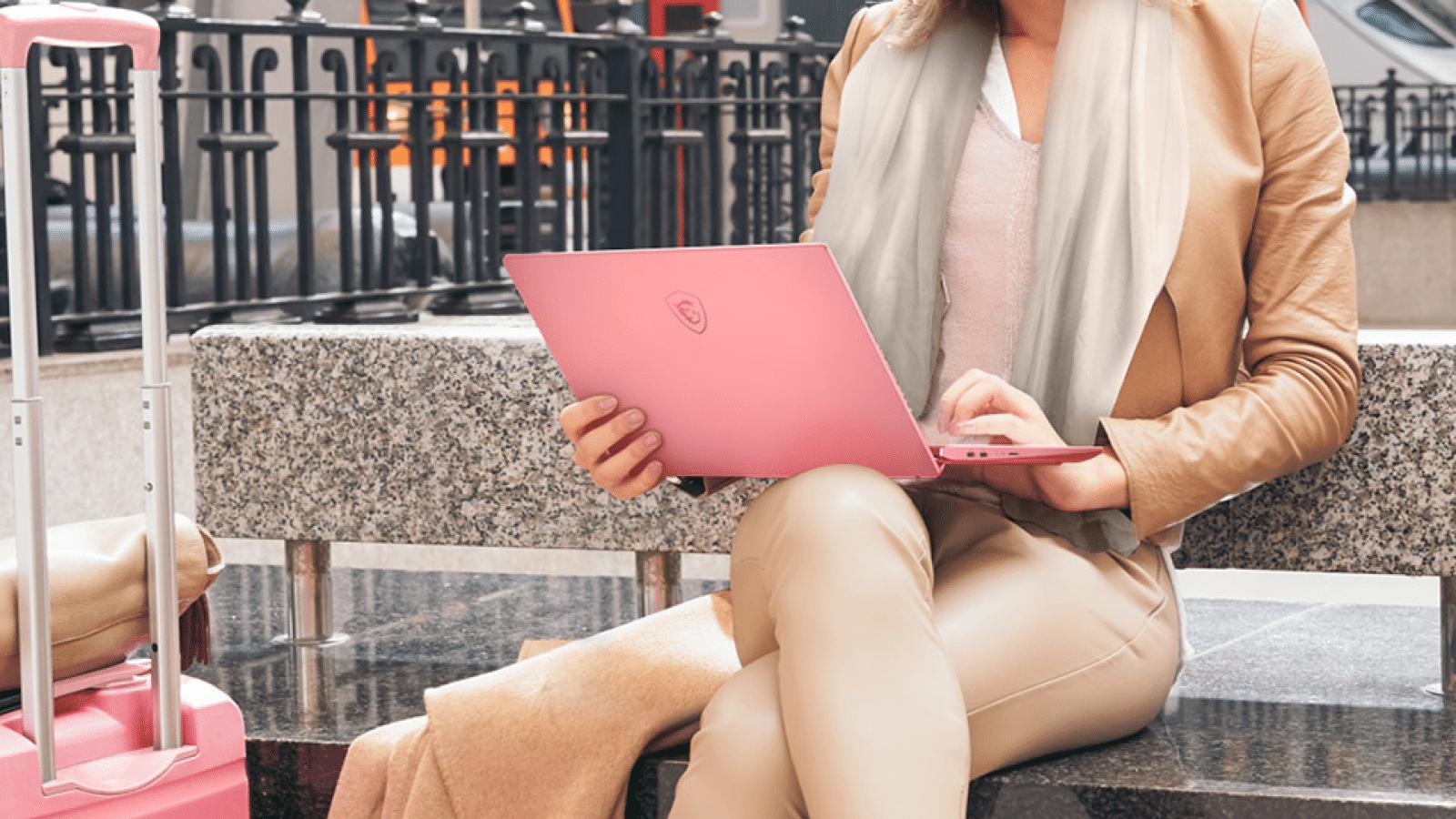 msi pink laptop
