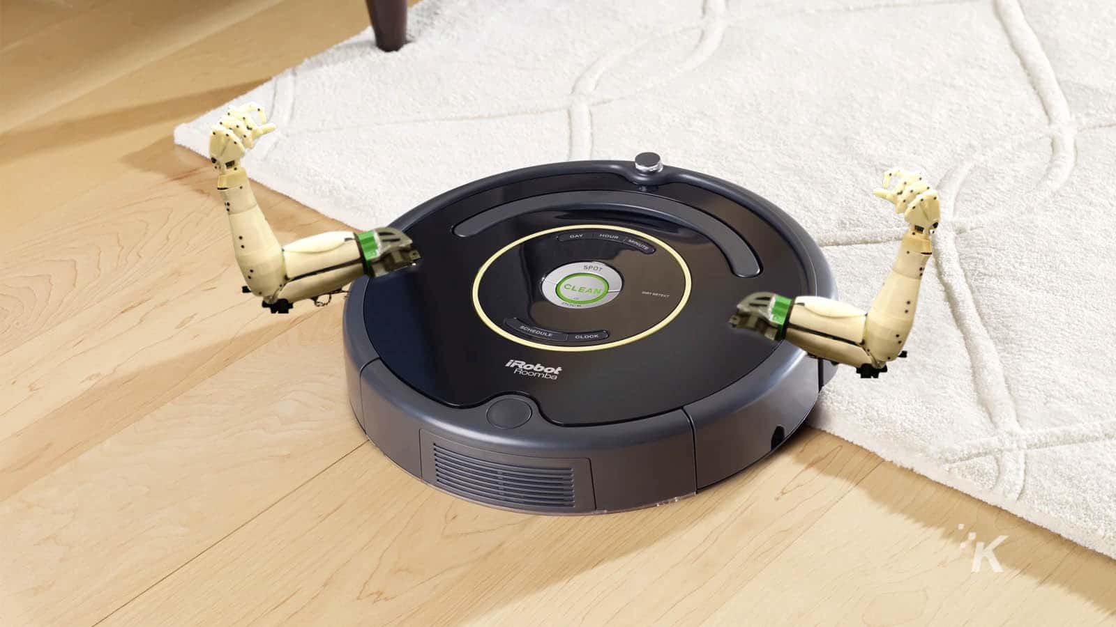 irobot roomba with arms