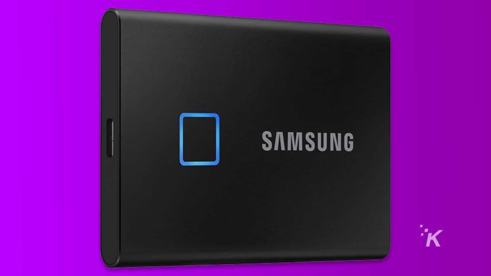 samsung external ssd with fingerprint sensor