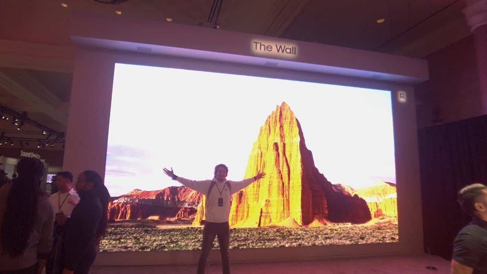 samsung's the wall tv at ces 2020