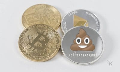 cryptocurrency on table with bitcoin, ethereum, shitcoin for google chrome