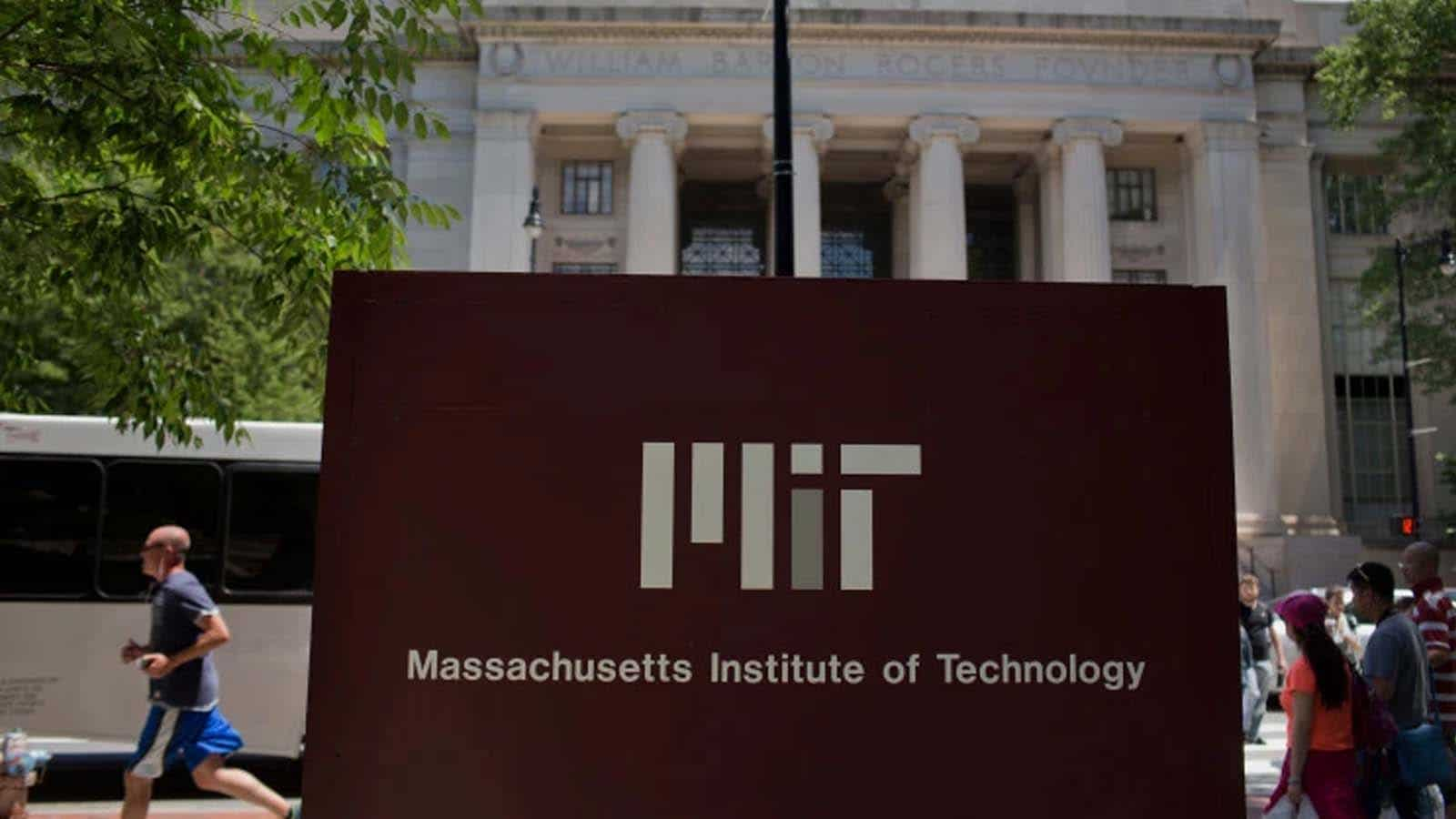 mit sign on campus for technologies