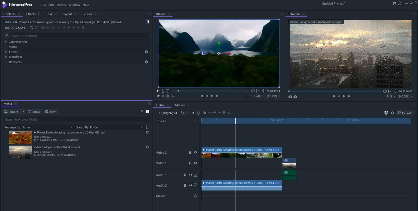 filmopro interface