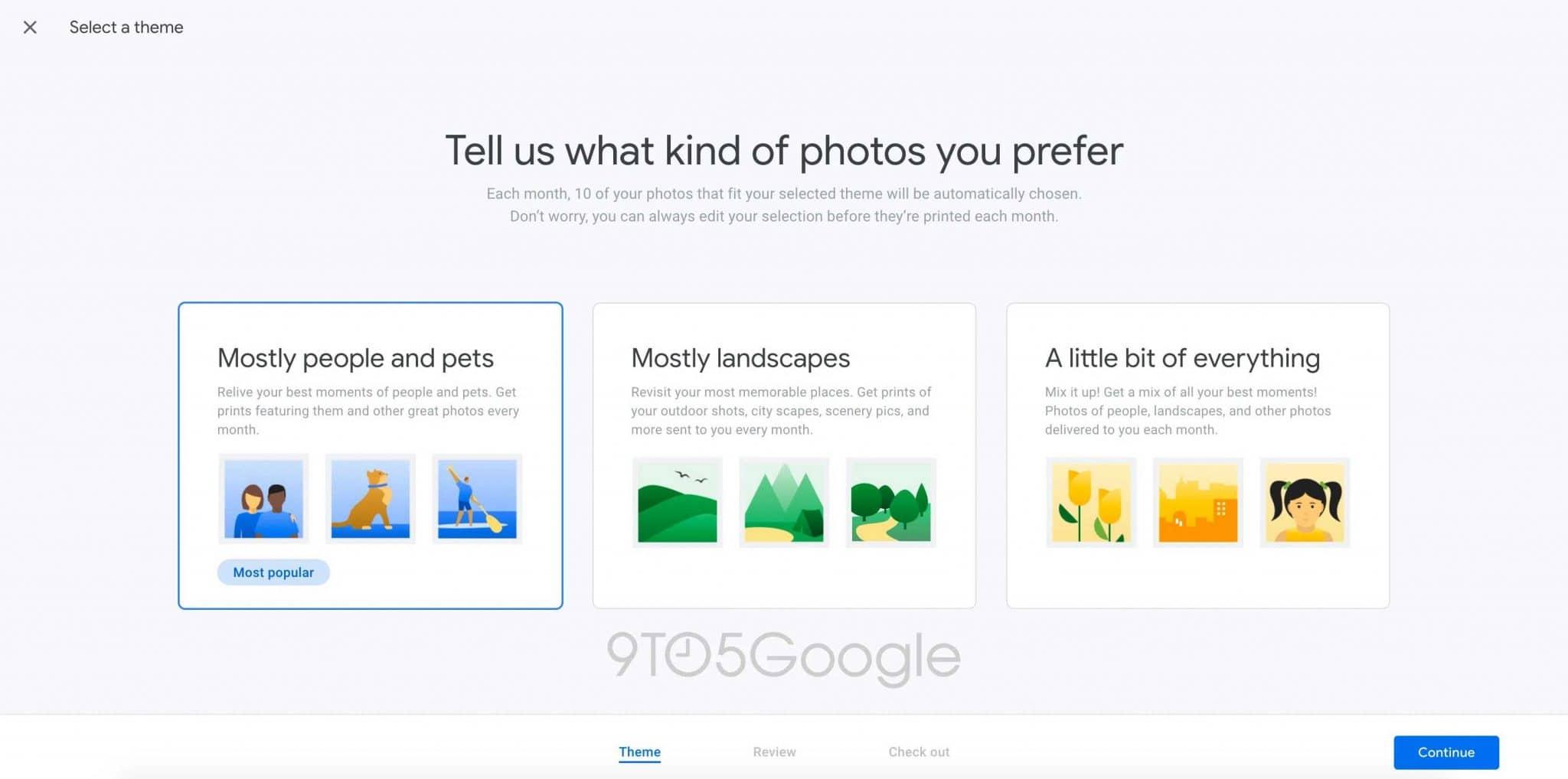 google photos subscription service