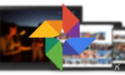 google photos logo on blurry background