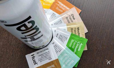 huel premix with flavor packets