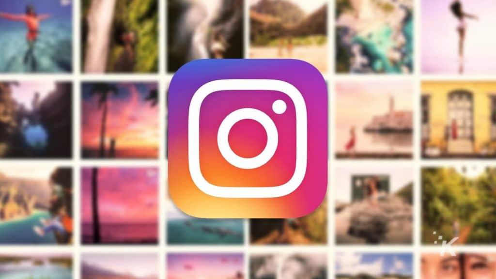 instagram logo on blurred background