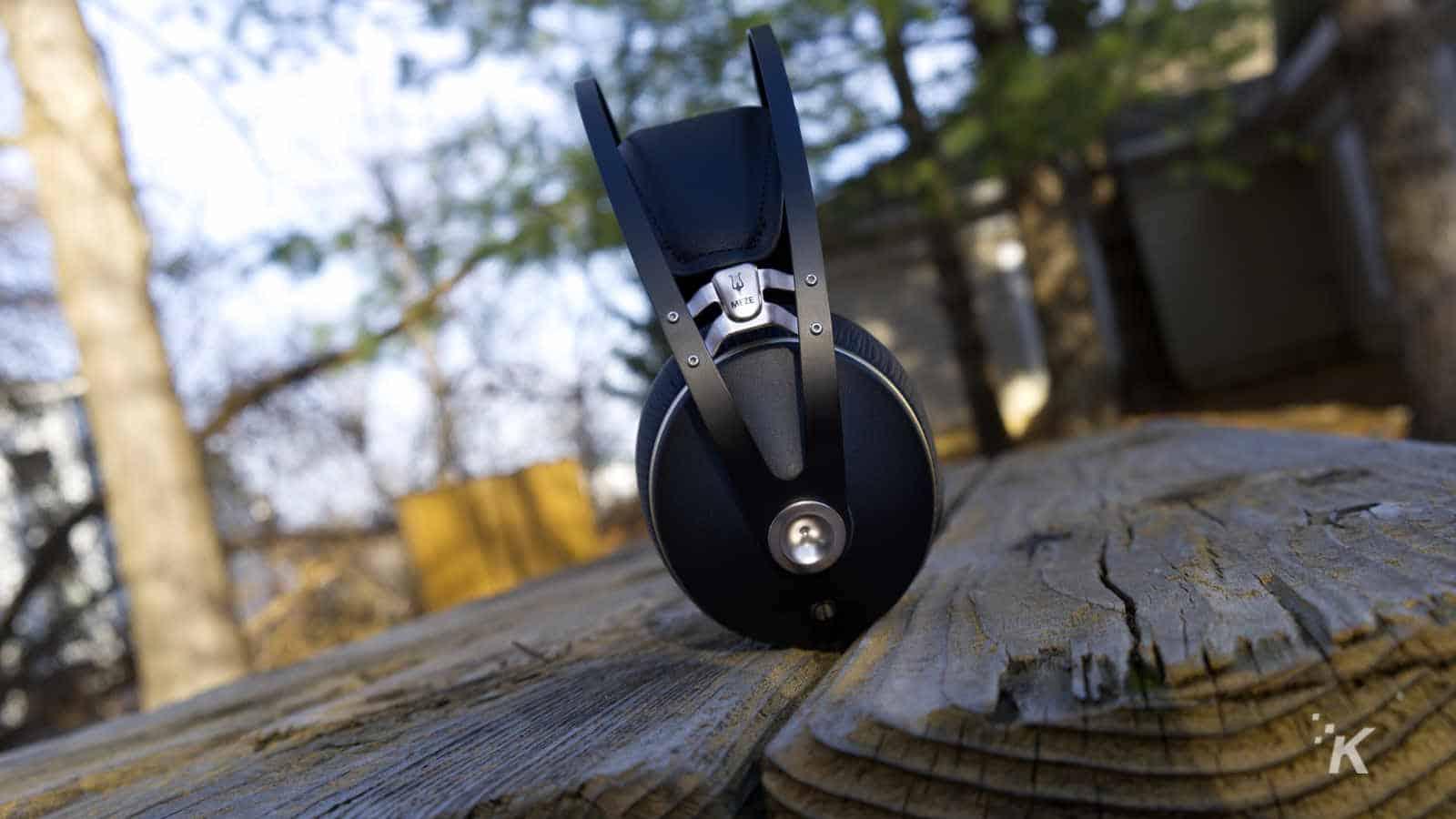 meze headphones on table