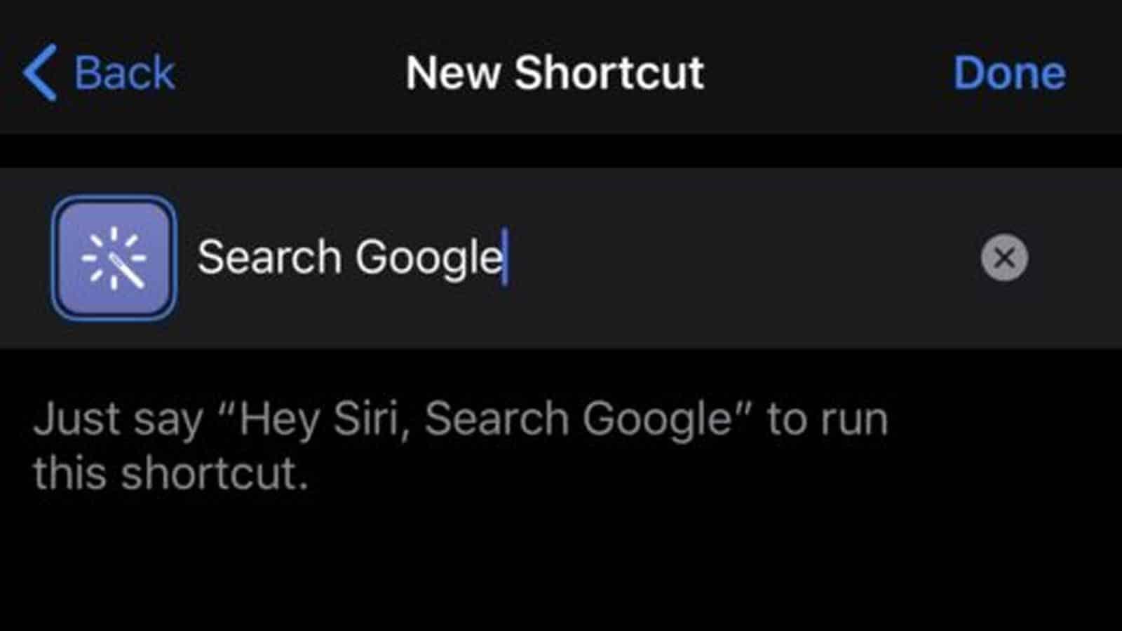 siri shortcuts for google search