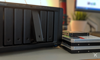 network attached storage box on desk