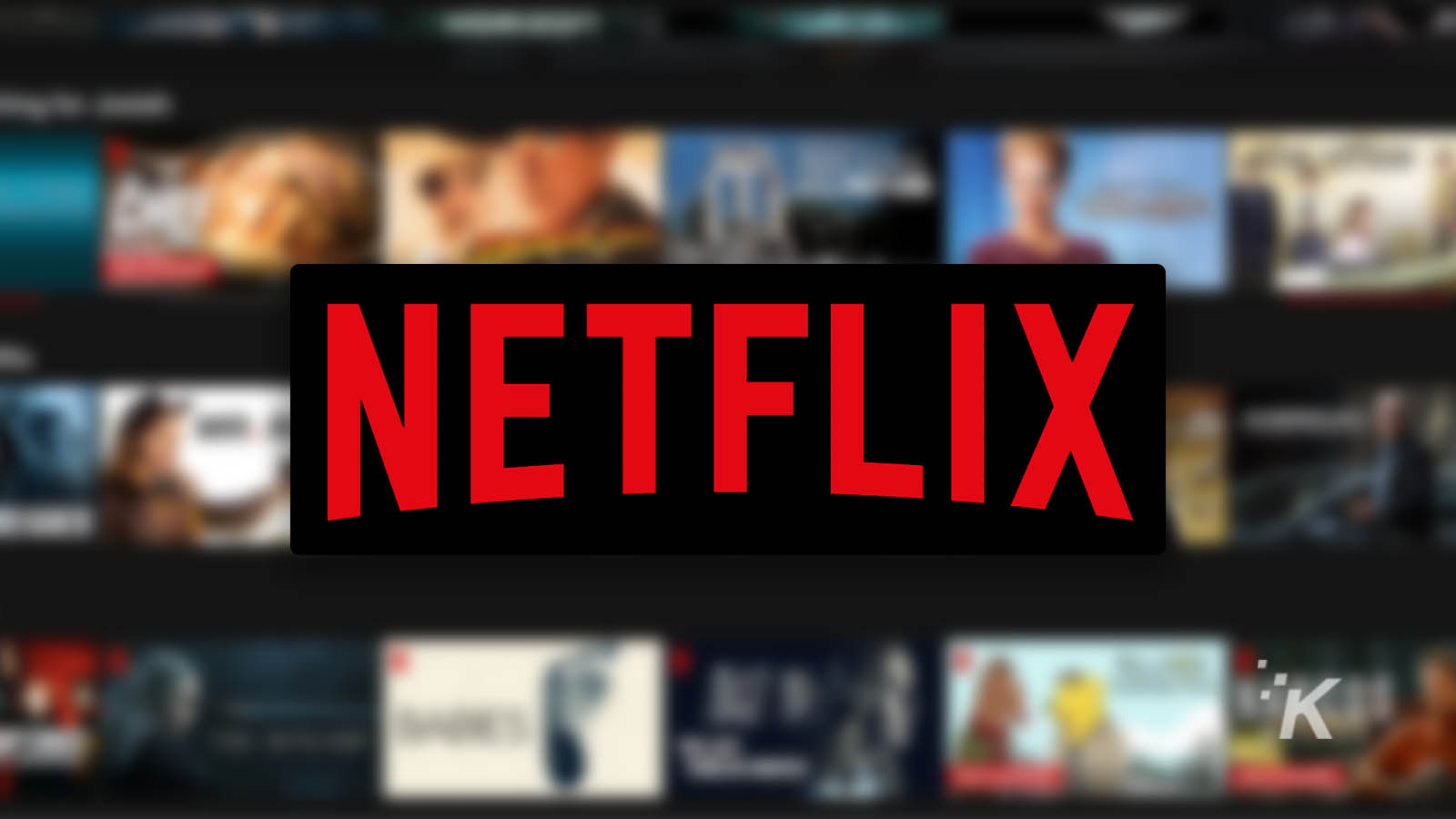 netflix logo on blurred background
