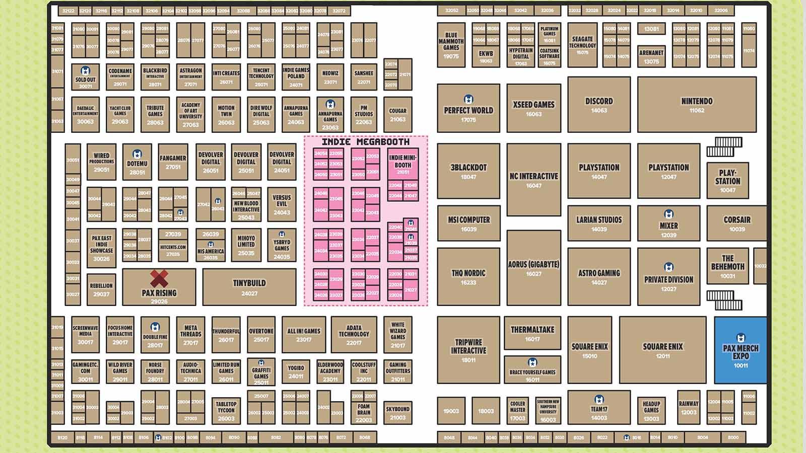 pax east 2020 showroom floor