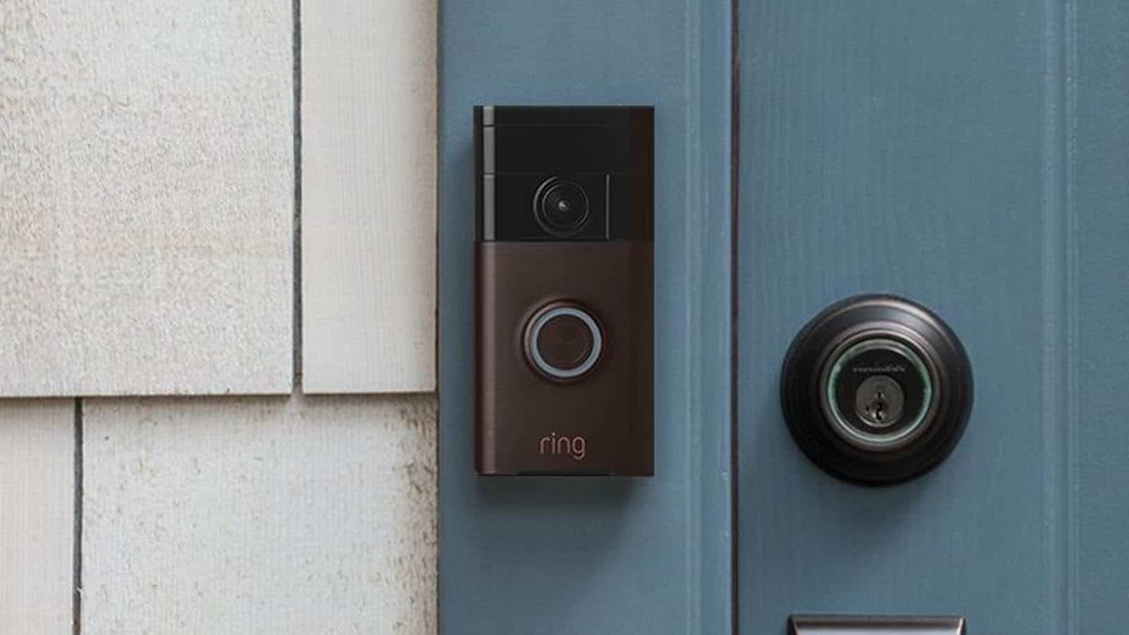 ring doorbell black