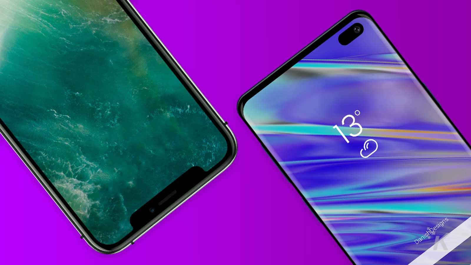 samsung and apple phone banner