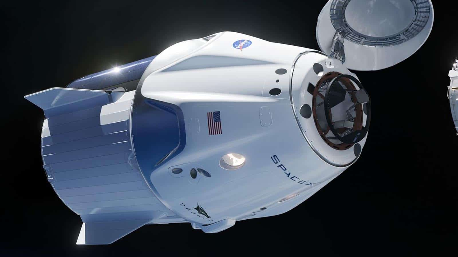 spacex crew dragon in space