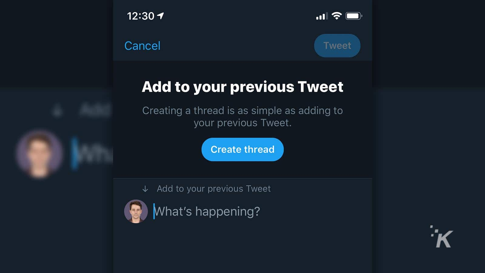 how to construct a twitter thread