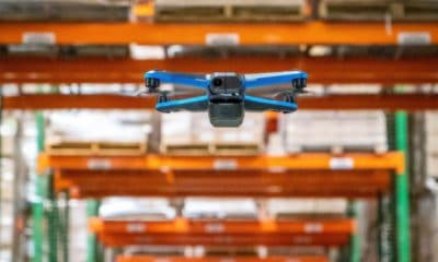 skydio drone stocktaking in warehouse