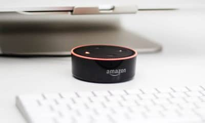 amazon echo smart speaker with speech recognition