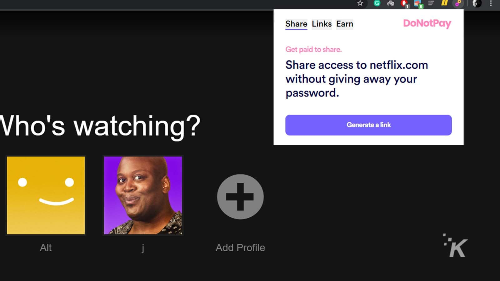 donotpay for netflix
