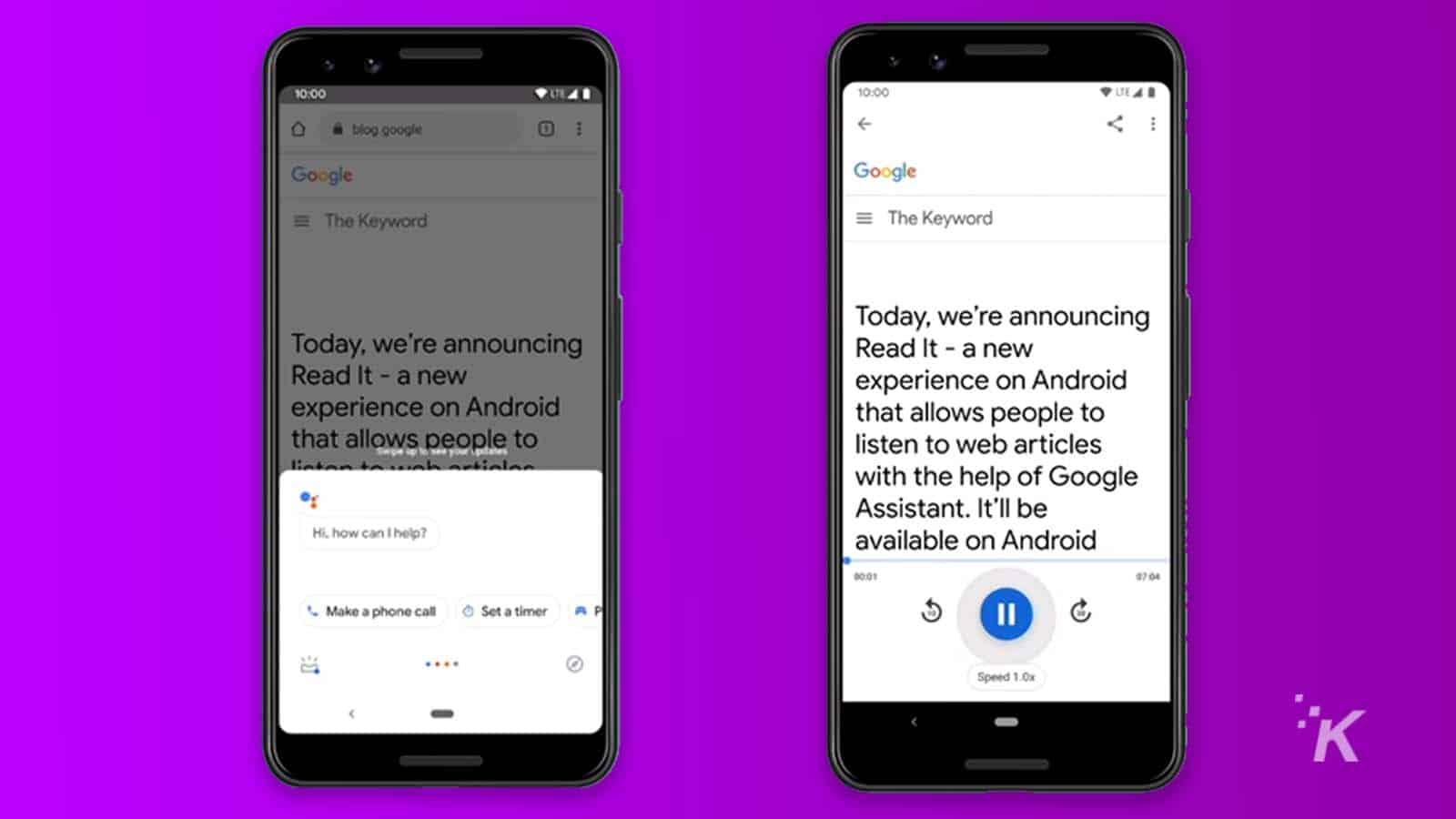 google assistant text to speech
