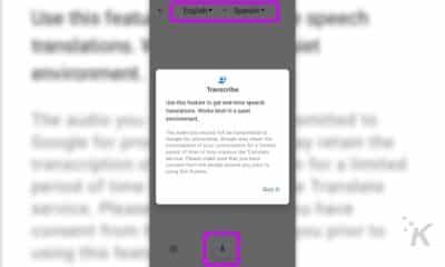 google translate transcribe feature